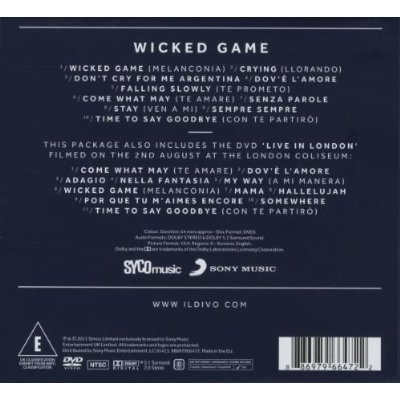 Il divo wicked game cd dvd limited edition for Il divo cd list