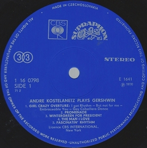 Picture of Andre Kostelanetz And His Orchestra; George Gershwin - Kostelanetz Plays Gershwin [Vinyl Second Hand]
